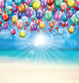 balloons background 1607 vector image