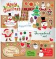 Christmas scrapbook set vector image vector image