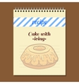 Recipe Book Cake With Icing vector image