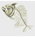 Fish skeleton icon for other design needs vector image