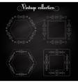 Frame vintage elements vector image