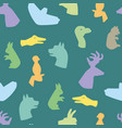 hands gesture like different animals seamless vector image