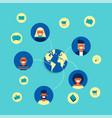 internet social network group concept flat design vector image