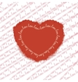 Love pattern with heart EPS 10 vector image