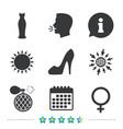 wedding dress icon women shoe sign perfume vector image