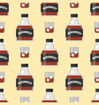 whiskey bottle glass seamless pattern liquor vector image