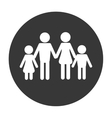 traditional family pictogram icon vector image