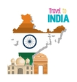 set monuments india design vector image