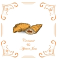 Croissant with Apricot Jam vector image