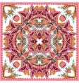 Square ornamental pattern with strawberry and vector image