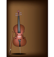 A Beautiful Brown Cello on Dark Brown Background vector image vector image