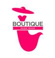 dress boutique or lady fashion atelier salon vector image