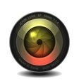 Camera photo lens vector image vector image