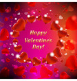 Happy Valentines Day Card With Bokeh vector image vector image