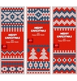 Beautiful Christmas set of banners with lace vector image vector image