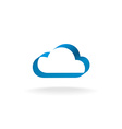 Cloud silhouette Color 3D ribbon isometric style vector image
