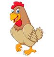 Chicken hen cute posing vector image