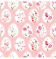Seamless pattern with stylized eggs and spring vector image