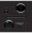 Dark Shiny Web UI Elements Buttons Switches bars vector image