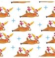 deer pattern3 vector image
