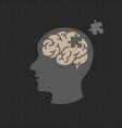 dementia logo icon design vector image
