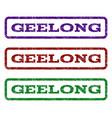 geelong watermark stamp vector image