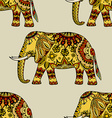 Hand Drawn Ethnic Elephant vector image