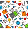 Physics science seamless pattern background vector image