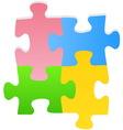 puzzle set vector image