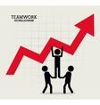 pictogram teamwork support design vector image