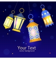 Ramadan Lanterns Background vector image