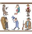 wild west people cartoon set vector image