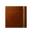 Isolated leather with heart design vector image