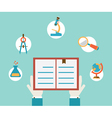 Concept of study Hands holding book vector image vector image