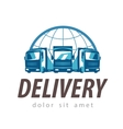 delivery logo design template truck or vector image