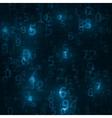 Digital code background vector image