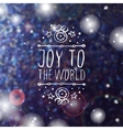 Christmas greeting card with text on blurred vector image