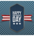 Happy Presidents Day big realistic Label vector image