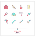 REPAIR TOOLS Line Icons Set vector image vector image