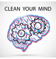 Clean your mind vector image