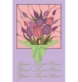 postcard with bouquet vector image