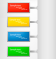 colored tags vector image