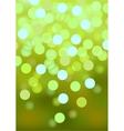 Green festive lights background vector image