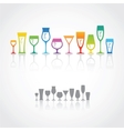 Icons of wine glasses vector image