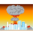 Nucleus blast and city vector image