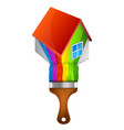 paint brush home vector image