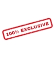 100 Percent Exclusive Text Rubber Stamp vector image