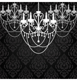 Vintage dark background with chandeliers vector image vector image