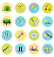 icons picnic rest in the forest in a flat style vector image