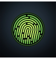 Fingerprint identification system with green vector image